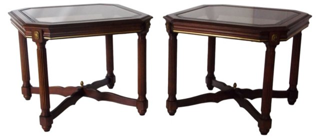 Empire-Style Side Tables, Pair