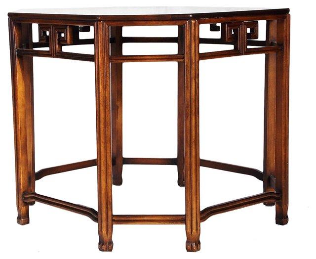 Burlwood Table w/ Key Accents
