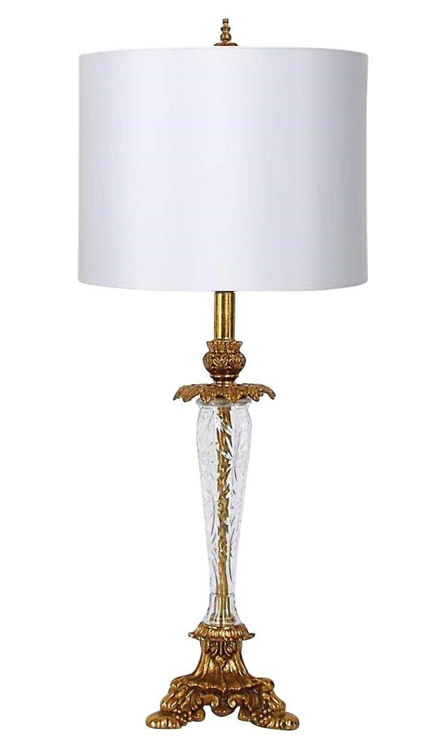 Crystal & Brass Lamp
