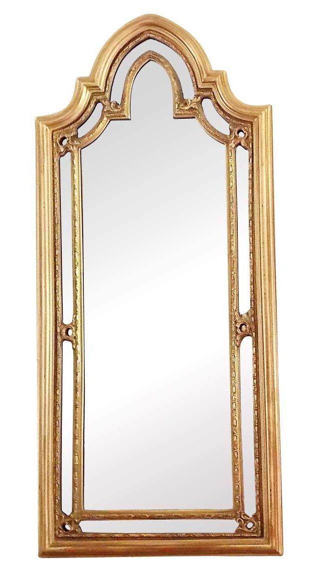 Gothic Arch Giltwood Mirror