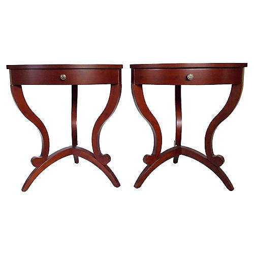 Modernist Side Tables, Pair