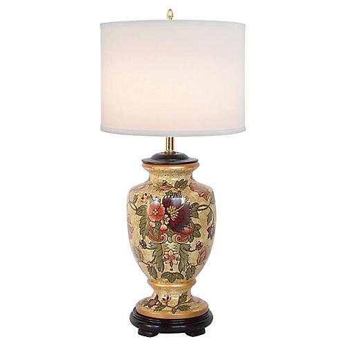 Floral Urn Lamp