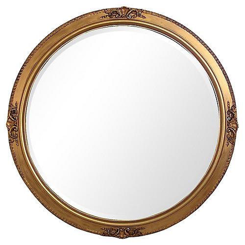 Shell Crest Giltwood Mirror