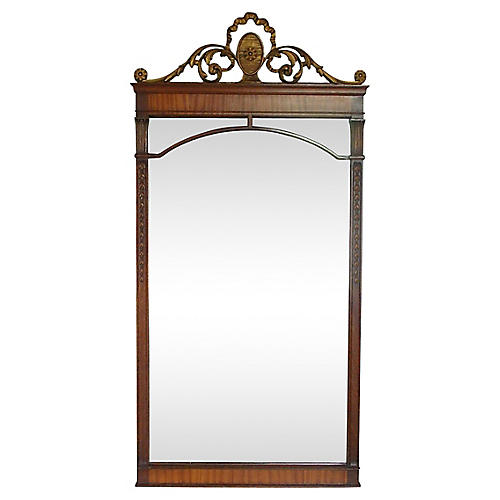 Gilt Crested Mirror
