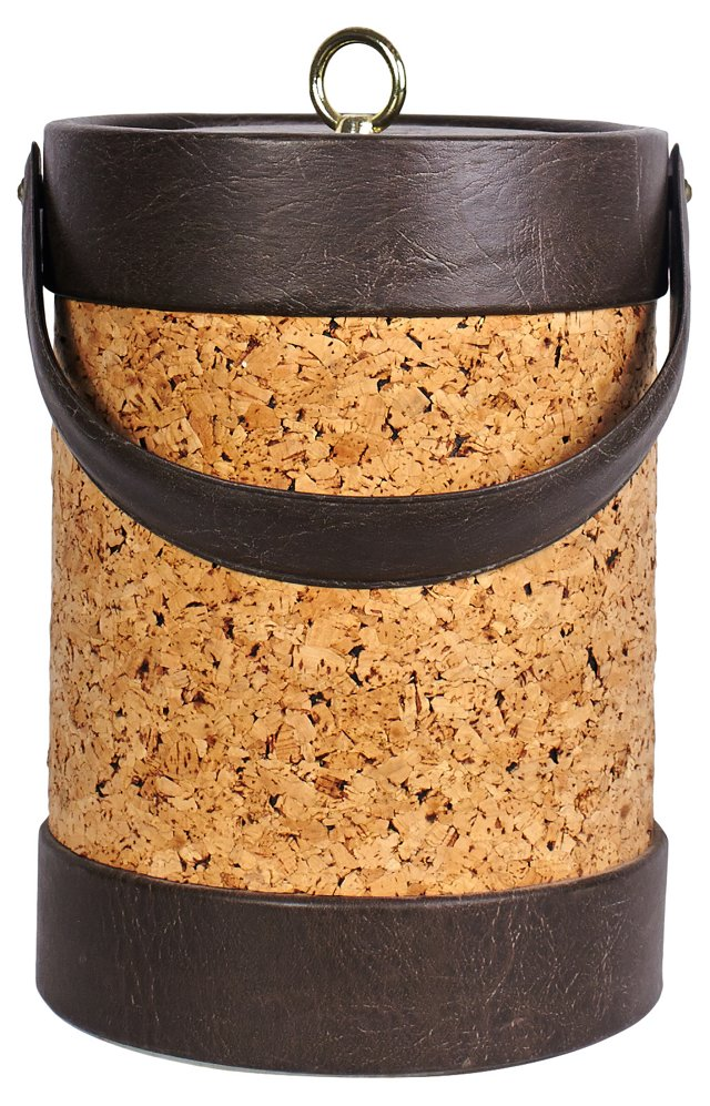 Cork & Leather Ice Bucket