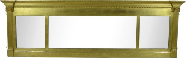 Neoclassical-Style Over-Mantel Mirror