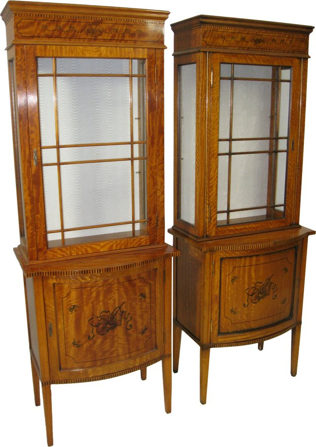 Neoclassical-Style Vitrines, Pair