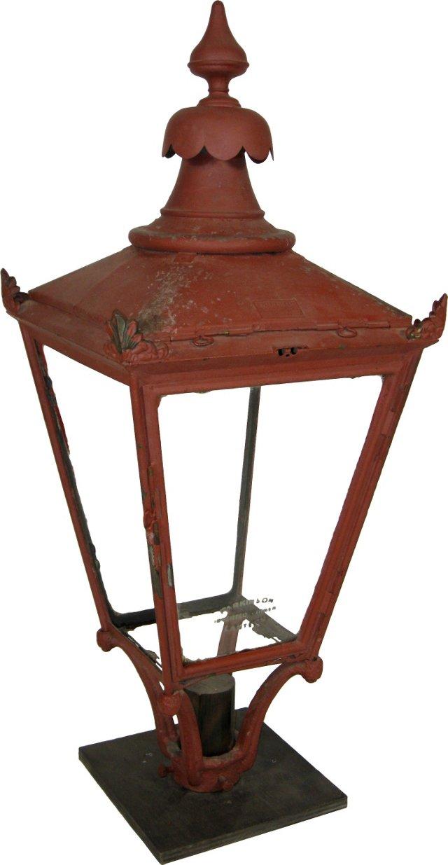 19th-C. London Street Lamp