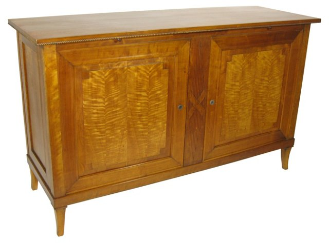 Neoclassical-Style Tiger Maple Server