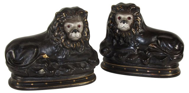 Staffordshire Recumbent Lions, Pair