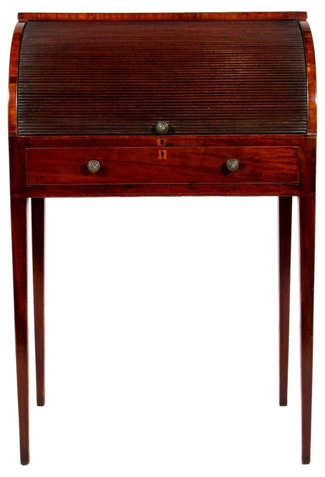 19th-C. Regency Cylinder Desk