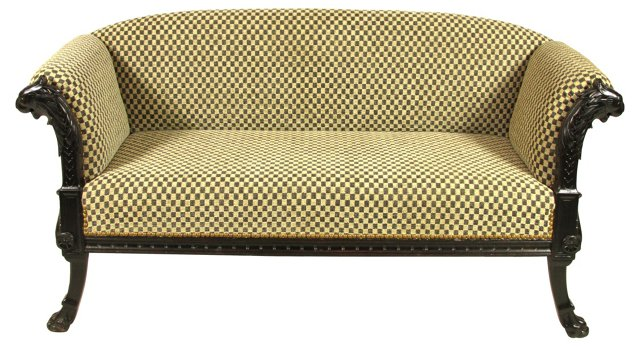 19th-C. Classical Settee
