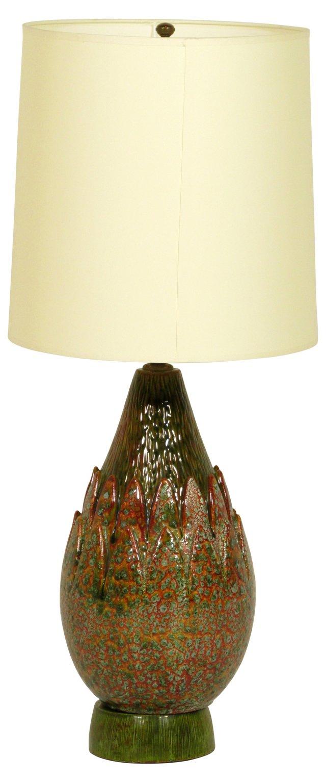 Ceramic Artichoke Lamp