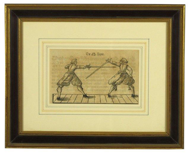 17th-C.  Fencing Woodcut
