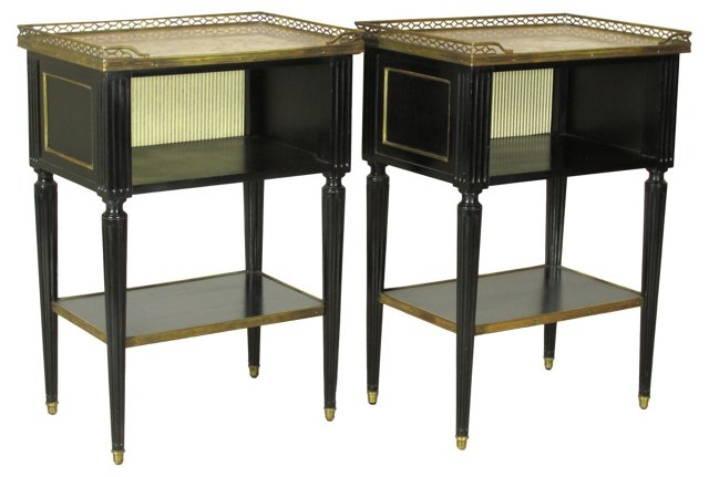 Louis XVI-Style End Tables, Pair