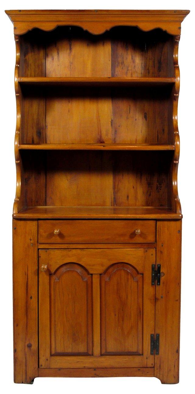 19th-C. American Pine Cupboard