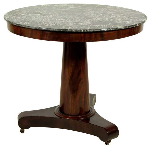 Mid-19th-C. French Table w/ Marble Top