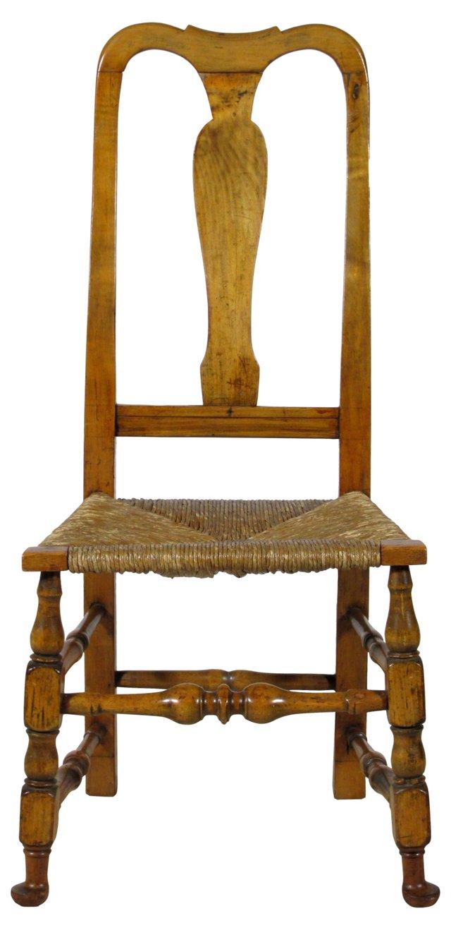 18th-C. Queen Anne Side Chair