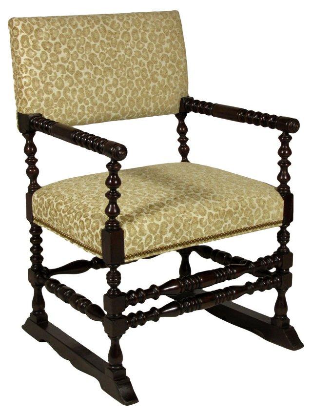 19th-C. Walnut  Armchair