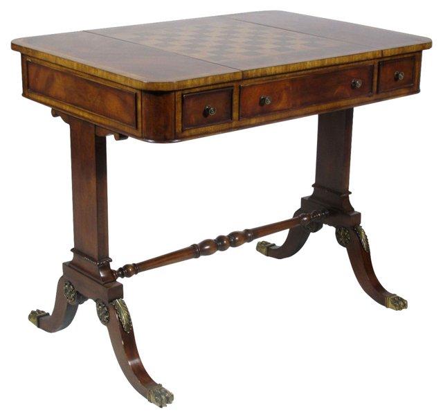 Inlaid Mahogany   Game Table