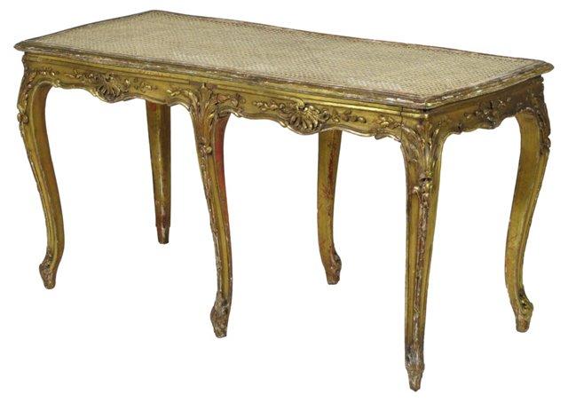 Louis XV-Style Giltwood Bench