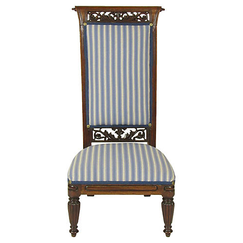18th-C. Louis XVI Slipper Chair