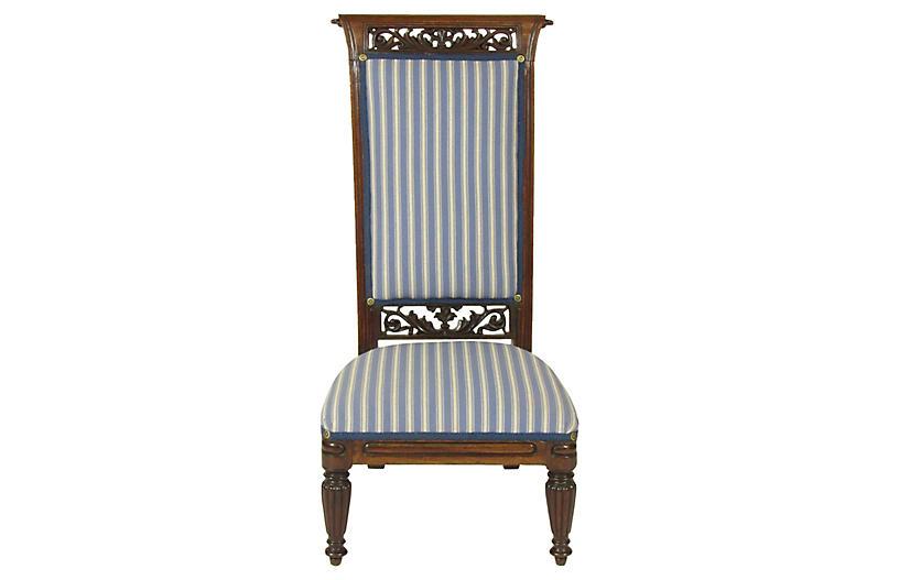 18th-C. Louis XVI Slipper Chair