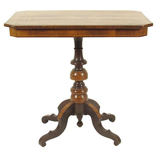 19th-C. Italian Inlaid Table