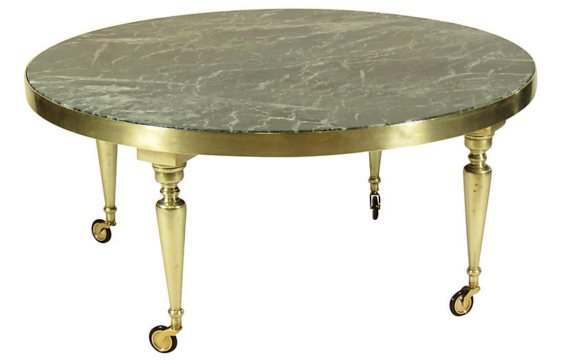 Midcentury Italian Brass Coffee Table