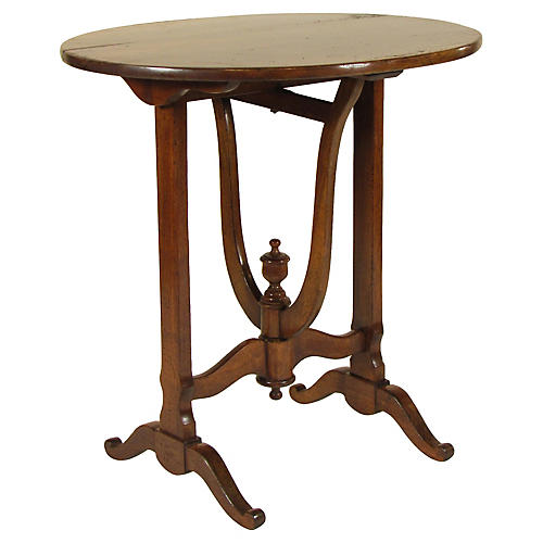 19th-C. French Provincial Tip-top Table