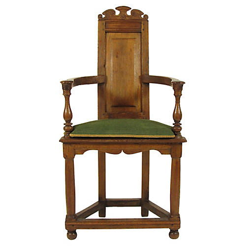 17th-C. French Baroque Armchair