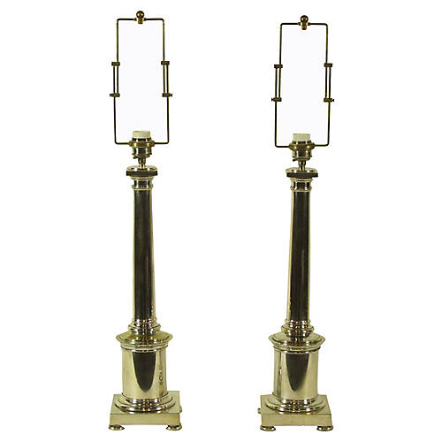 French Neoclassical Lamps, Pair