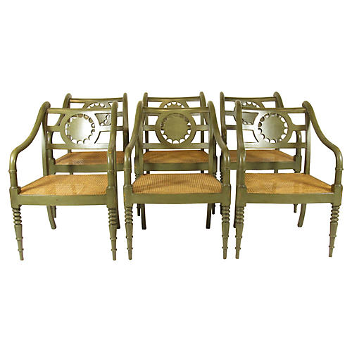 French Style Armchairs by Baker, S/6