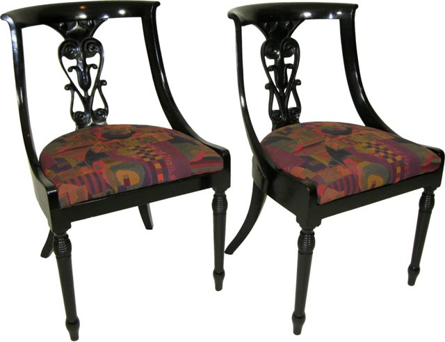 Empire-Style Side Chairs, Pair