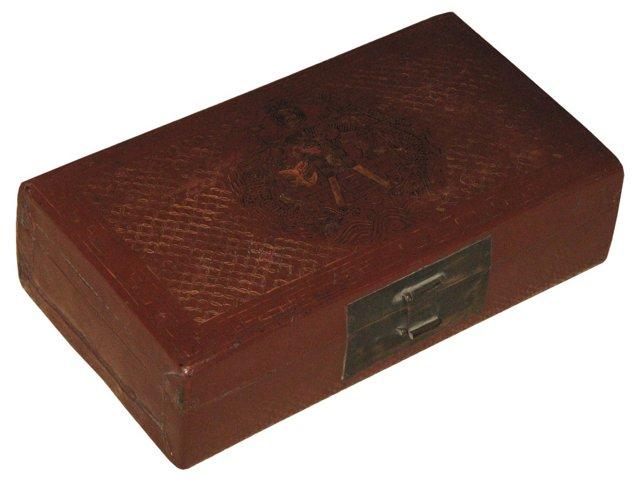 Antique Leather Box