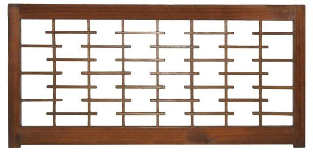 Japanese Geometric Cedar Panel