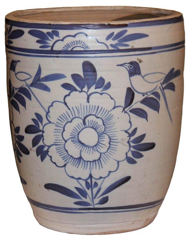 Chinese Blue & White Grain Jar