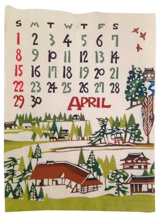 Japanese Calendar, April 1973