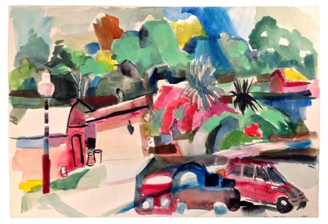 Vibrant Street Painting