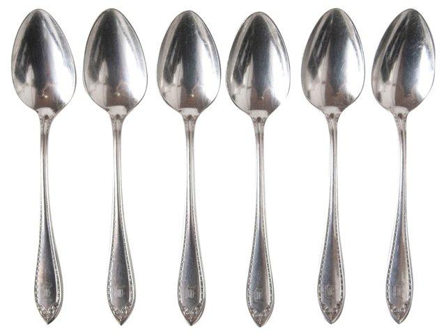 Monogram Dinner Spoons, Set of 6