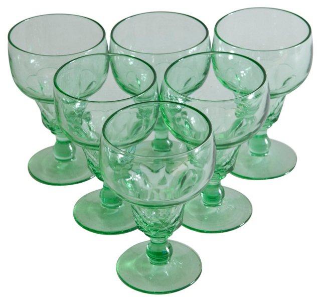 Light Green Sundae Goblets, S/6