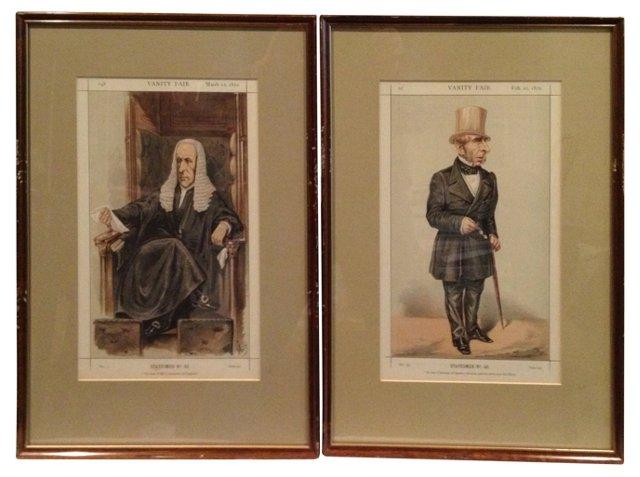 Vanity Fair Statesmen Prints, 1870, Pair