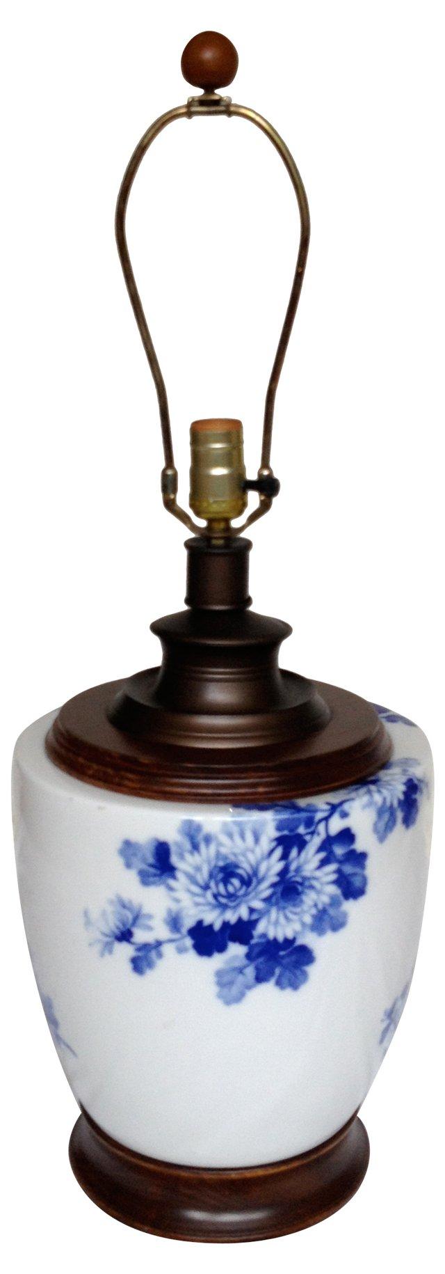 Blue & White Porcelain Lamp
