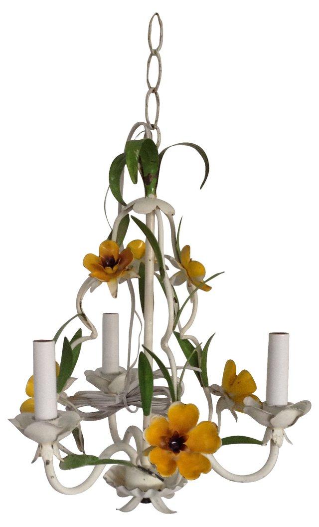 Tole Floral Chandelier