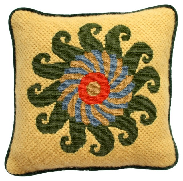 Bargello Maize Pillow
