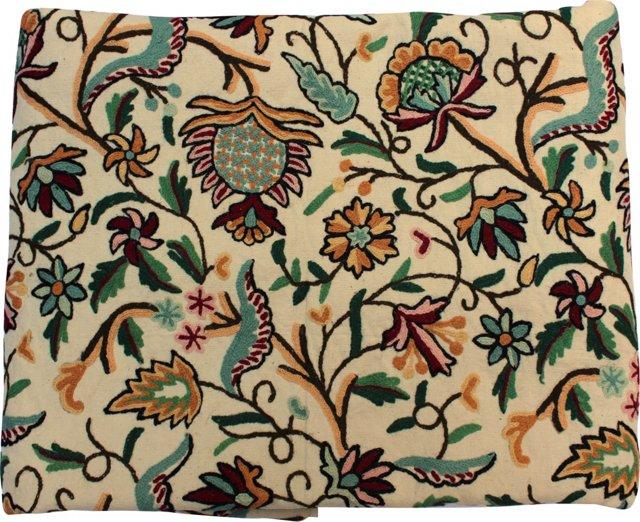 Botanical Crewel Fabric, 5 Yds