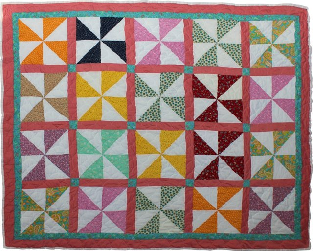 Colorful Pinwheel Quilt