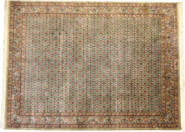 "Indian Agra Rug, 10' x 8'1"""