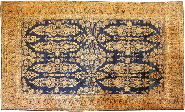 """Antique Persian Lilihan, 11'10"""" x 9'2"""""""