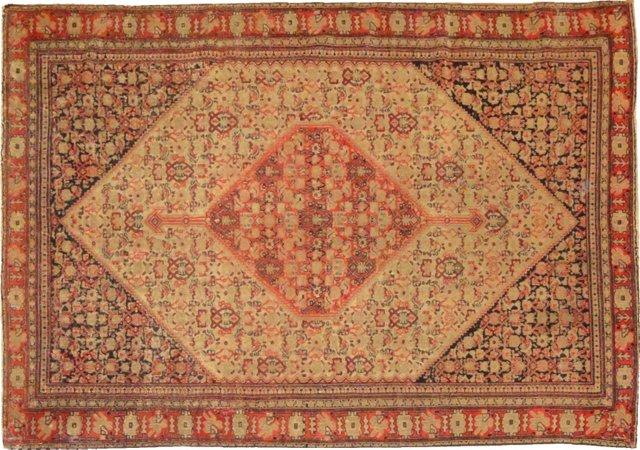 "Antique Persian Senneh, 6' x 4'2"""
